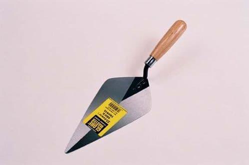 "Globemaster Brick Trowel with Wood Handle - 254mm (10"")"